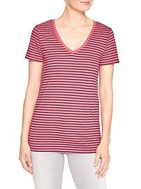 Favorite stripe V-neck tee