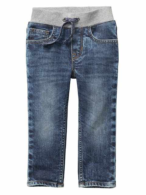 Stretch slim fit pull-on jeans