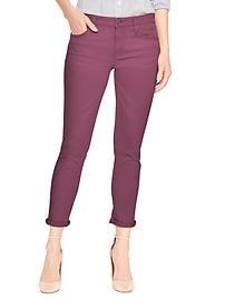Mid Rise Cropped Girlfriend Jeans in Color