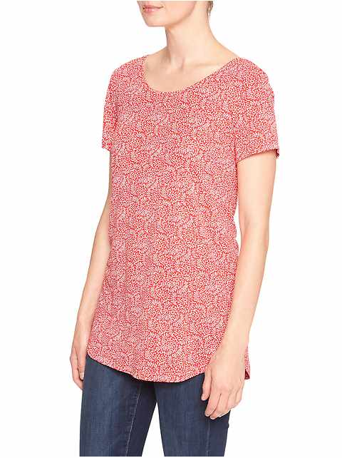 Luxe floral tee