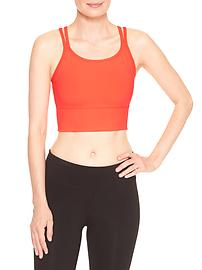 GapFit gFast medium impact strappy sports bra