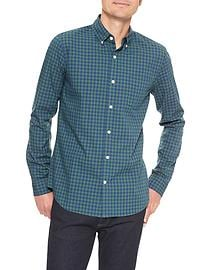 Print poplin shirt (slim fit)