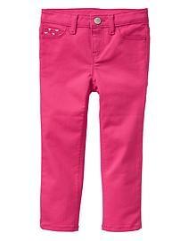 Stretch heart-pocket skinny fit jeans
