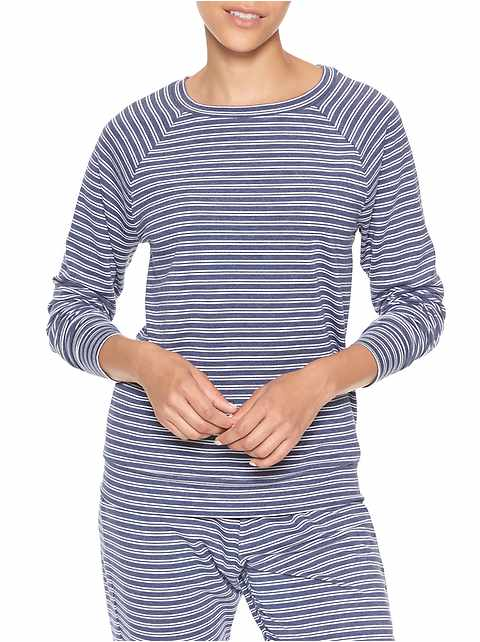 Print French terry raglan pullover