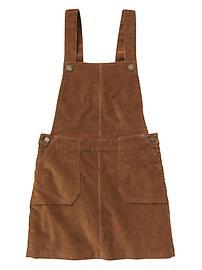 Cord skirt overalls