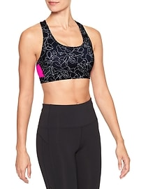 GapFit gFast medium impact racerback sports bra
