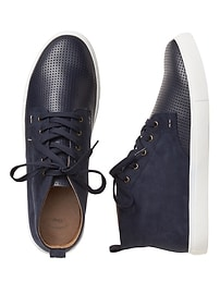 Perforated chukka sneakers