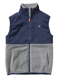 GapFit colorblock mix-media vest