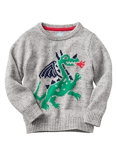 Dragon intarsia sweater