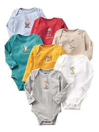 babyGap &#124 Disney Baby Snow White and the Seven Dwarfs bodysuit (7-pack)