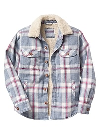 Plaid shirt jacket