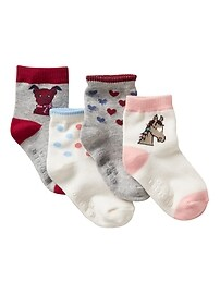 Intarsia socks (4-pack)