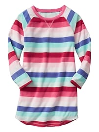 Crazy stripe microfleece sleep tee dress
