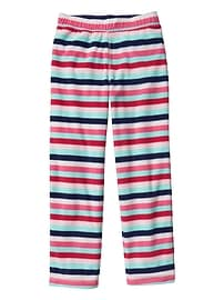Crazy stripe microfleece sleep pants