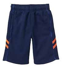 Contrast-stripe active shorts