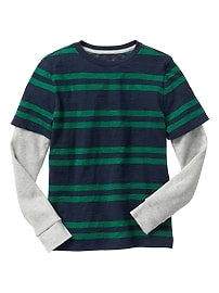 2-in-1 stripe tee
