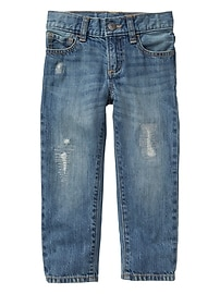 Destructed straight jeans