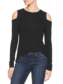 Luxe cold-shoulder tee