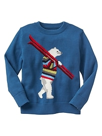 Polar bear intarsia sweater