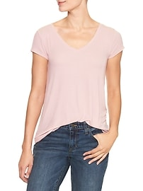 Short-sleeve ribbed tee
