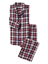 Plaid flannel sleep set