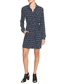 Print shirtdress