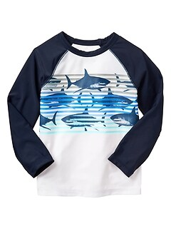 Shark long-sleeve rashguard