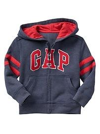 Varsity arch logo zip hoodie