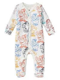 babyGap &#124 Disney Baby Snow White and the Seven Dwarfs print footed snap one-piece