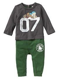 babyGap &#124 Disney Baby Snow White and the Seven Dwarfs double-layer one-piece