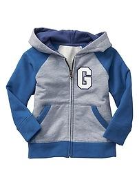 Colorblock raglan logo hoodie