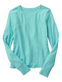 GapFit long-sleeve tulip-back tee