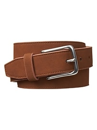 Faux-suede belt