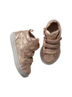 Shimmer hi-top trainers