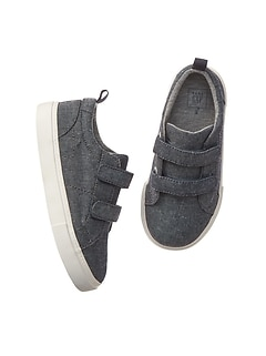 Strappy chambray sneakers