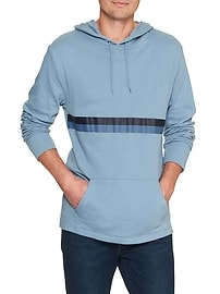 Double-knit chest-stripe hoodie