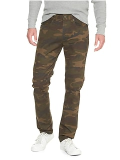 Slim stretch camo pants
