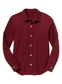 Long-sleeve jersey shirt