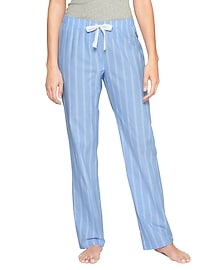 Print poplin sleep pants
