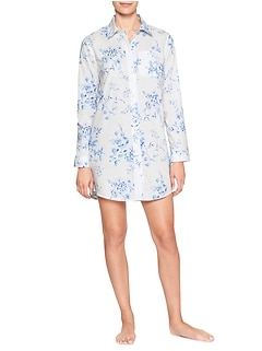 Poplin sleep gown