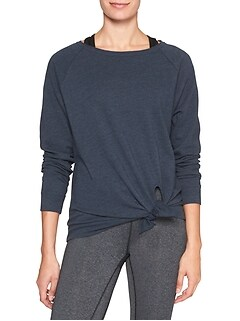 Tie-front pullover