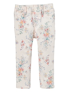 Floral Pull-On Jeggings