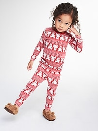 Bear fair isle sleep set