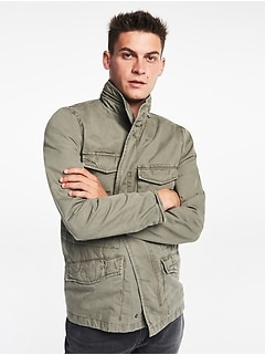 Hidden-Hood Military Jacket