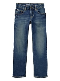 Stretch straight jeans