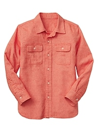 Twill two-pocket shirt
