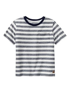 Stripe Crewneck Pocket T-Shirt