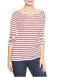 Favorite stripe boatneck tee