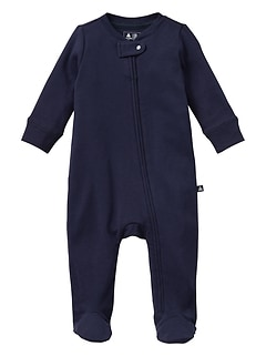 Footed zip one-piece