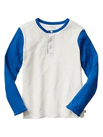 Colorblock long-sleeve henley